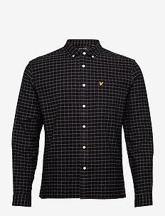 Grid Check Shirt - chemises à carreaux - jet black