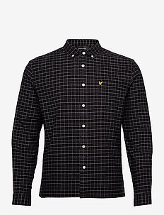 Grid Check Shirt - geruite overhemden - jet black
