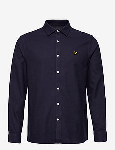 Multi Yarn Brushed Cotton Shirt - basic skjortor - z839 navy/ dark navy