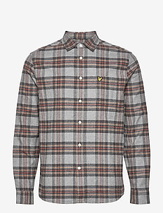 Brushed Check Shirt - chemises à carreaux - t28 mid grey marl