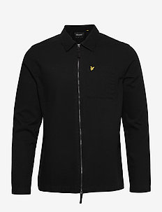 Twill Overshirt - hauts - jet black