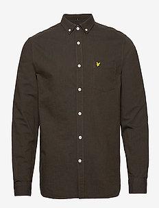 Oxford Shirt - oxford shirts - true black/olive