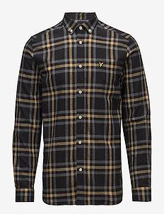 Check Flannel Shirt - TRUE BLACK/URBAN GREY