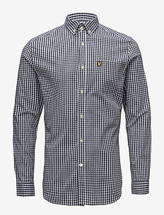 LS Slim Fit Gingham Shirt - NAVY