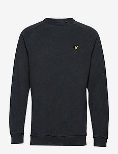 Washed Sweatshirt - TRUE BLACK