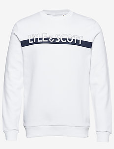 Logo Crew Neck Sweatshirt - WHITE