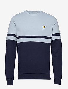 Panel Stripe Crew Neck Sweatshirt - truien - blue dust/ navy