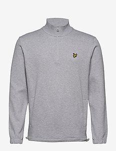1/4 Zip Pique Sweatshirt - half zip jumpers - light grey marl