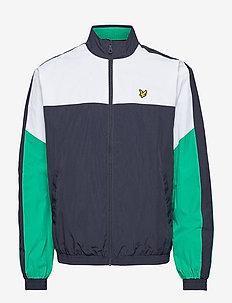Multi Panel Zip Through Tracktop - basic-sweatshirts - dark navy