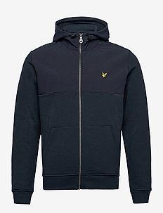 Softshell Jersey Zip Hoodie - basic-sweatshirts - dark navy