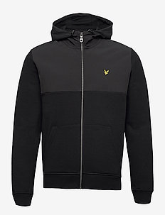 Softshell Jersey Zip Hoodie - basic-sweatshirts - jet black