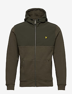 Softshell Jersey Zip Hoodie - basic sweatshirts - trek green