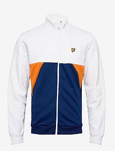 Geo Panel Zip Through - basic sweatshirts - white/ indigo
