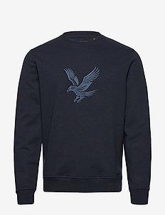 Embroidered Eagle Sweatshirt - oberteile - dark navy