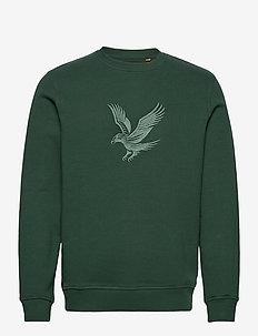 Embroidered Eagle Sweatshirt - oberteile - jade green