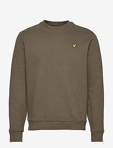 Ripstop Panel Sweatshirt - sweats basiques - w123 trek green