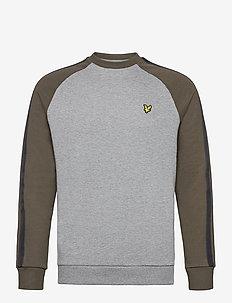 Colour Block Crew Neck Sweatshirt - sweats basiques - t28 mid grey marl