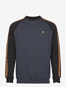 Colour Block Crew Neck Sweatshirt - sweats basiques - z271 dark navy