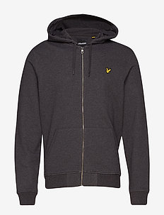 Zip Through Hoodie - hoodies - charcoal marl