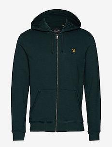 Zip Through Hoodie - hoodies - jade green