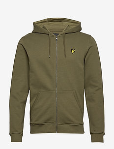 Zip Through Hoodie - hoodies - lichen green
