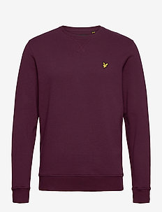 Crew Neck Sweatshirt - basic-sweatshirts - burgundy