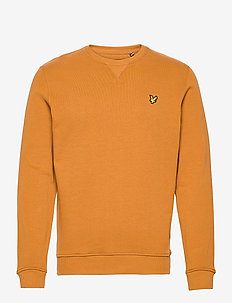 Crew Neck Sweatshirt - basic sweatshirts - caramel