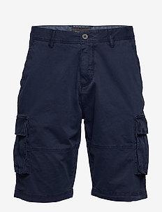 Relaxed Cargo Shorts - cargo shorts - navy