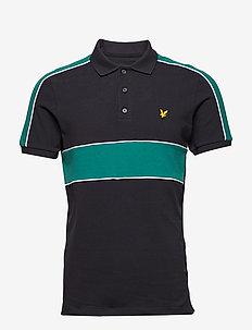 Cut and Sew Polo Shirt - TRUE BLACK