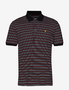 Fine Stripe Polo Shirt - TRUE BLACK