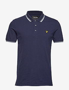 Tipped Slim Stretch Polo Shirt - NAVY