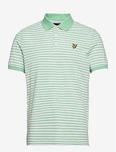 Stripe Polo Shirt - kurzärmelig - sea mint/ light grey