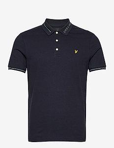 Seasonal Branded Collar Polo Shirt - polos à manches courtes - dark navy