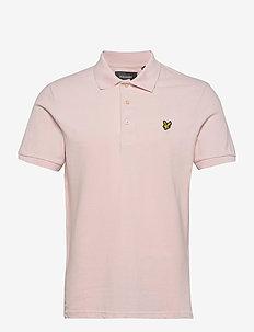 Plain Polo Shirt - kortærmede - stonewash pink