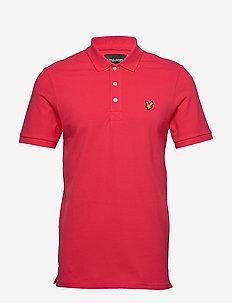 Slim Stretch Polo Shirt - korte mouwen - geranium pink