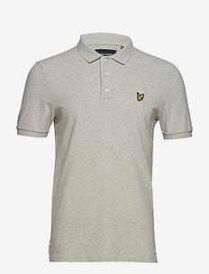 Slim Stretch Polo Shirt - korte mouwen - light grey marl
