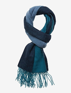 Colour Block Scarf - PETROL TEAL