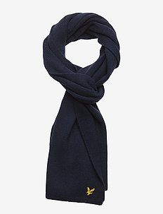 Racked rib scarf - BLUE