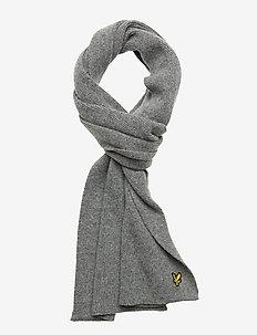 Racked rib scarf - GREY