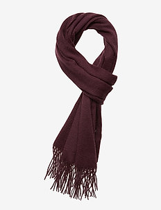 Plain lambswool scarf - BURGUNDY