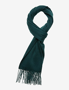 Plain lambswool scarf - JADE GREEN
