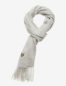Plain lambswool scarf - LIGHT GREY MARL