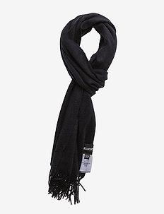 Plain lambswool scarf - NEW NAVY