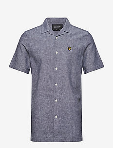 Cotton Linen Resort Shirt - NAVY