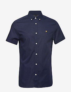 SS Slim Stretch Poplin Shirt - NAVY