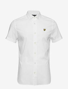 SS Slim Stretch Poplin Shirt - WHITE