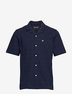 SS Check Seersucker Resort Shirt - koszule w kratkę - navy check
