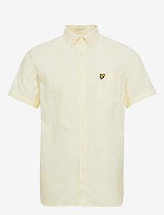 SS Oxford Shirt - basic shirts - buttercream/ white