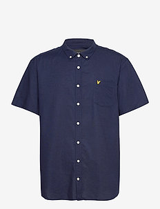 Short Sleeve Light Weight Slub Oxford Shirt - chemises oxford use default - navy