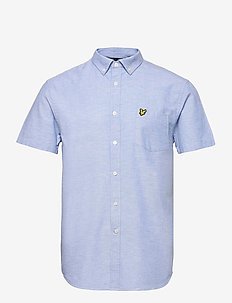 Short Sleeve Light Weight Slub Oxford Shirt - chemises oxford use default - riviera